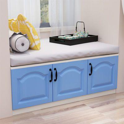 地柜储物柜可坐阳台飘窗柜子自由组合收纳柜矮柜落地窗台柜可定制