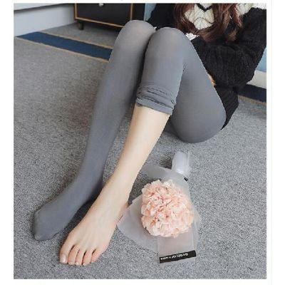孕妇春秋丝袜托腹薄款新款浴足免脱打底裤一体裤九分裤袜