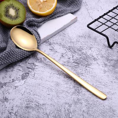 304勺子不锈钢韩式长柄汤勺子家用勺子餐具套装饭勺搅拌勺调羹