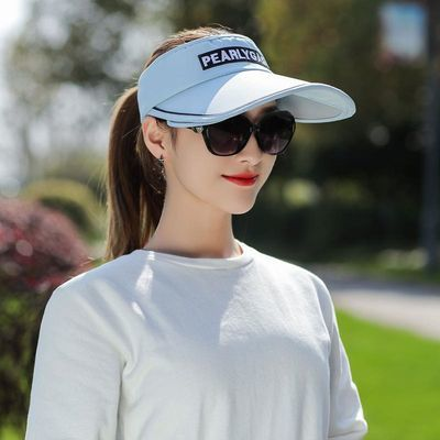 遮阳帽女户外骑车出游防紫外线空顶帽美女百搭潮可伸缩好看太阳帽