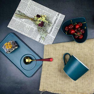 北欧ins网红创意学生早餐一人食餐具水杯咖啡杯家用套装情侣餐具
