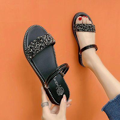 夏季凉鞋女2020新款韩版百搭两穿凉拖鞋平底外穿鞋子女学生罗马鞋