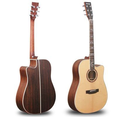 工厂出口全单吉他民谣木吉他 初学者男女生自学电箱吉他乐器41寸
