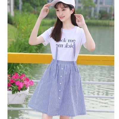 初中生夏装连衣裙女12-15岁大童韩版高中学生裙子女16-18小女孩14