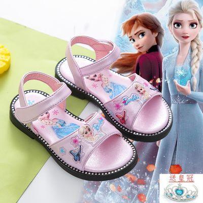 女童凉鞋2020新款夏季爱莎公主鞋冰雪奇缘网红童鞋软底时尚儿童鞋