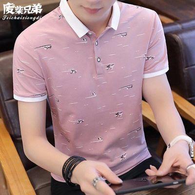春夏季男士纯棉短袖POLO衫青年短袖T袖韩版时尚潮流翻领上衣服男