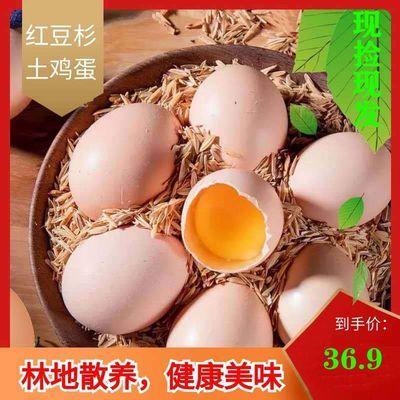 红豆杉鸡蛋深山草养散养新鲜土鸡蛋柴蛋笨鸡蛋现捡现发30颗装包邮