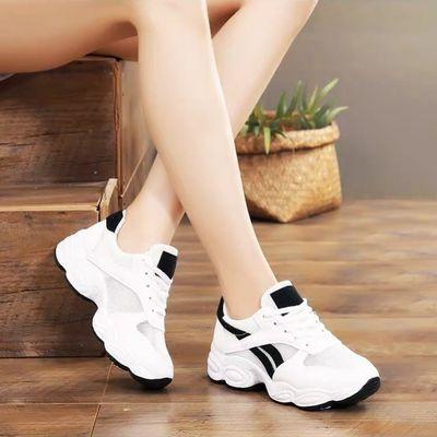鞋子女2020夏季新款透气运动鞋女网面休闲鞋小白鞋女跑步旅游女鞋