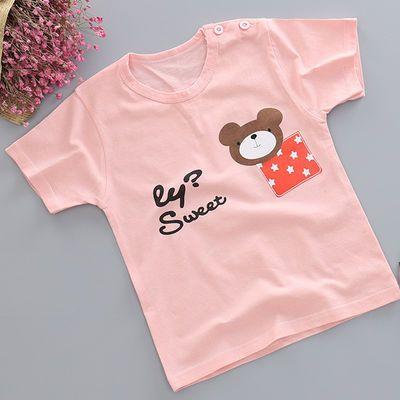 儿童1夏季2短袖3T恤4宝宝5纯棉6上衣7岁男童女童卡通半袖打底衫潮