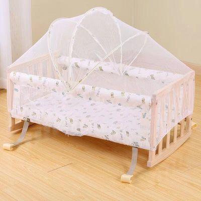 婴儿床实木无漆环保多功能bb宝宝床摇篮新生儿童床小孩游戏床拼接