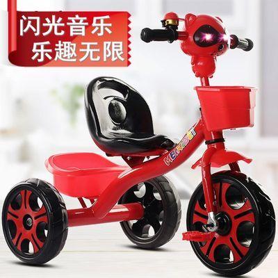 儿童三轮车脚踏车2-3-5岁大号宝宝小童男女孩音乐玩具�《方诺懦�