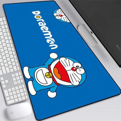 。可爱鼠标垫超大号卡通电脑键盘办公桌垫哆啦A梦学生写字书桌垫