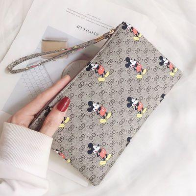 手拿包女钱包长款2020新款简约时尚手包零钱包皮夹小包手机包米奇