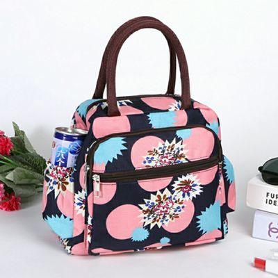 饭盒袋便当手提包学生女饭盒包便当袋手提帆布手拎包上班族大号