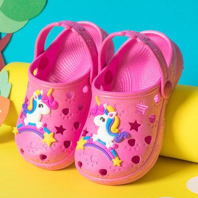 儿童凉鞋女男宝宝防滑室内外洞洞鞋婴幼儿男女童小孩包头凉拖鞋女
