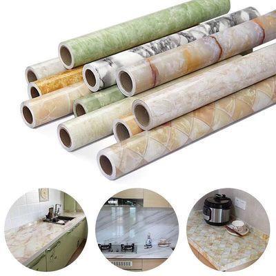 大理石厨房装饰贴纸防水防油灶台瓷砖贴自粘橱柜桌面贴纸抽屉垫纸
