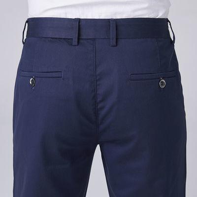 春秋新款天丝男士休闲裤男西裤夏季超薄款直筒冰丝商务大码男裤子