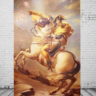 1797年翻越阿尔卑斯山的拿破仑图片名人肖像骑马照外国领袖伟人照