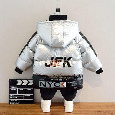 男童棉服2019新款冬装儿童羽绒棉衣中长款外套宝宝洋气厚亮皮棉袄