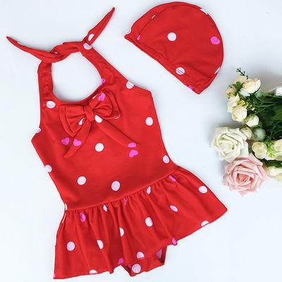 特卖 用儿童游泳衣女童宝宝婴儿可爱公主小中大童泳帽2-6-8岁带泳