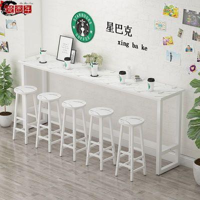 吧台桌家用隔断高脚桌酒吧奶茶店桌椅组合长桌子长条桌靠墙窄桌子