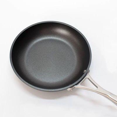 平底煎锅不粘锅28cm平底锅304不锈钢煎锅炒锅