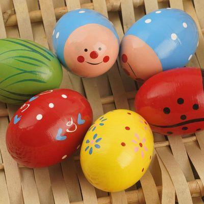 木制手摇铃沙锤沙球沙蛋婴幼儿乐器/音乐早教玩具