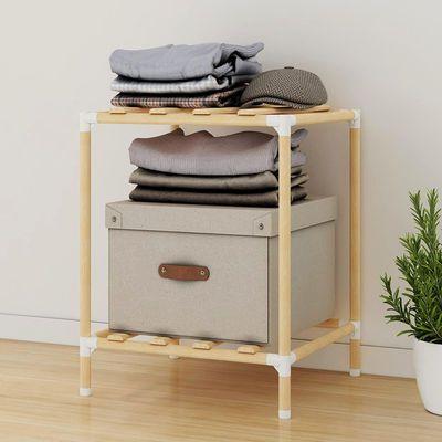 简易衣柜衣帽架实木多功能落地挂衣架卧室置物架衣服收纳柜子