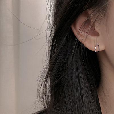 ins线条耳钉女简约港风极简耳饰品批发小巧镂空几何网红气质耳环