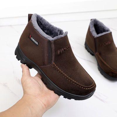 冬季老人男鞋中老年爸爸父亲棉鞋保暖防滑老北京布鞋4647爷爷棉靴