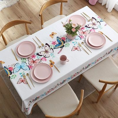 台布长方形防水防烫防油网红ins简约餐桌布茶几布桌布PVC少女心