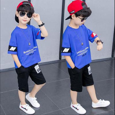 2020童装新品男童套装夏装6岁男孩衣服套装7中小童两件套韩版洋气