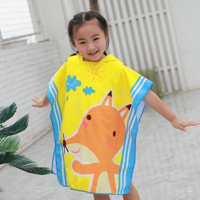 六一特惠:儿童卡通浴巾浴袍浴衣沙滩巾披风斗篷婴幼宝宝可穿浴巾