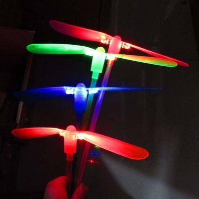 发光竹蜻蜓夜光闪光飞天仙子儿童孔雀戒指热卖夜光地摊玩具批发