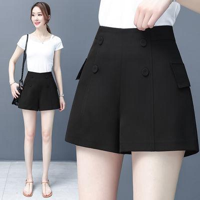 阔腿短裤女夏薄款2020新款a字粗腿显瘦宽松外穿休闲西装裤热裤子