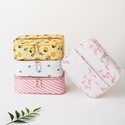 网红化妆包ins风超火小号女便携大容量旅行随身袋洗漱包品收纳盒