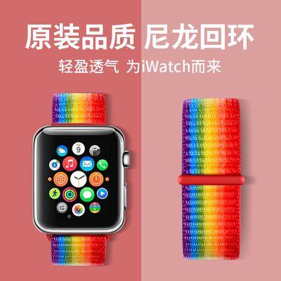 适用苹果Apple watch手表表带iwatch5/3尼龙表带5代硅胶表带男女