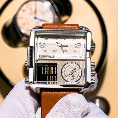 76671/马克华菲新款双显全自动电子手表男2020新款正品潮流男士时尚腕表