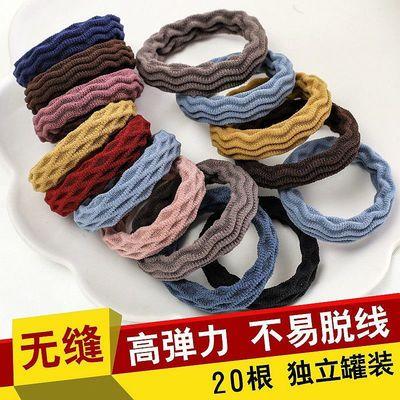 加厚发绳女孩扎头发橡皮筋高弹力绑无缝头绳简约发圈成人发饰加粗