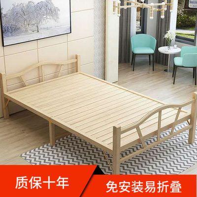 竹床折叠床家用床出租屋床工地床单人双人午休床夏凉床陪护床包邮