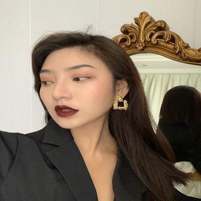 13年老店 925银饰品BAO STYLE欧美时尚大方框耳环女