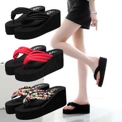 人字拖鞋女韩版厚底夏季防滑女式时尚凉鞋高跟女士拖鞋夏新款外穿