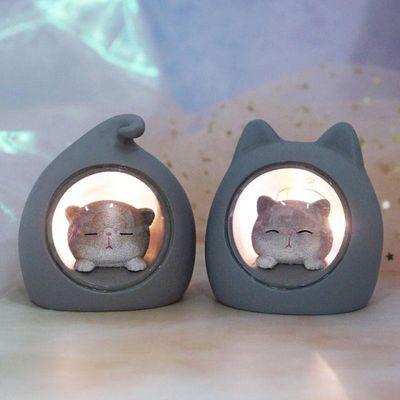 小宠屋氛围小夜灯猫咪小猫夜灯可爱ins少女心台灯氛围灯浪漫睡眠