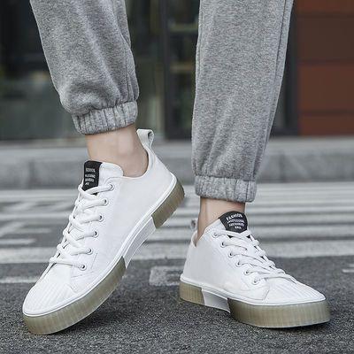 2021春季新款韩版休闲运动鞋男百搭小白鞋蚕丝布凉潮轻便时尚经典