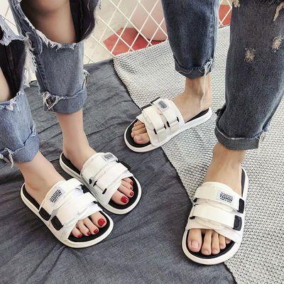 拖鞋女夏外穿2020新款防滑一字拖情侣沙滩韩版潮流时尚网红凉拖鞋