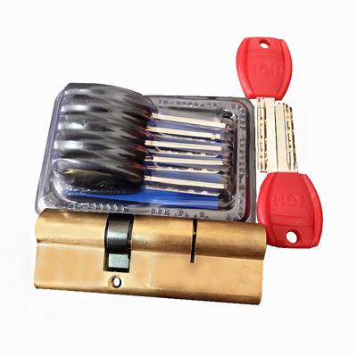 防盗门锁芯家用大门全铜通用进户门锁芯通用铜锁芯a级