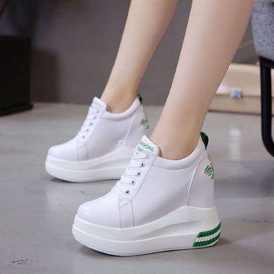 2020春季新款内增高超高跟厚底小白鞋10cm百搭女鞋松糕底小白鞋女