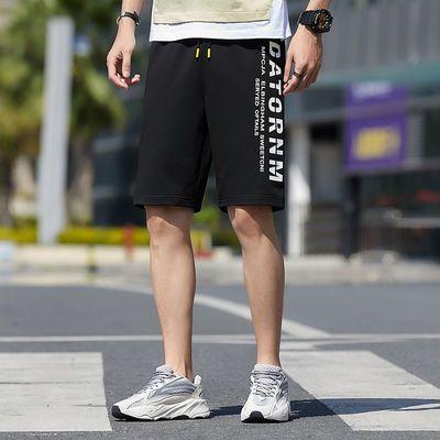 夏季短裤男时尚潮流印花五分裤休闲舒适运动学生宽松ins男士短裤