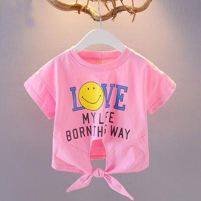 女童短袖T恤女宝宝体恤夏儿童短t圆领打底衫韩版2020夏季婴儿童装