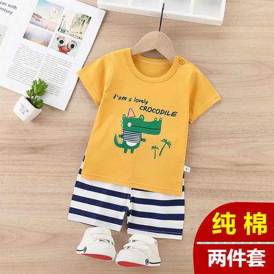 女童套装儿童两件套宝宝上衣短裤夏装纯棉婴儿衣服男童装新品